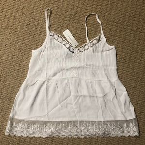 BRAND NEW white lace cami